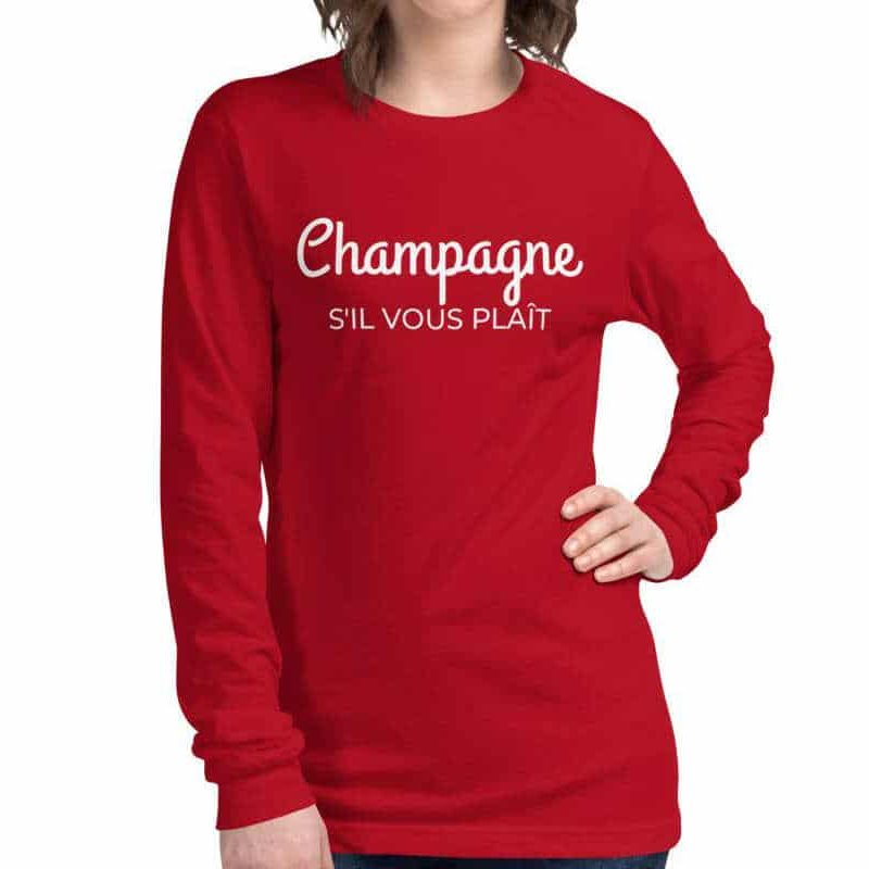 Champagne long-sleeve tshirt