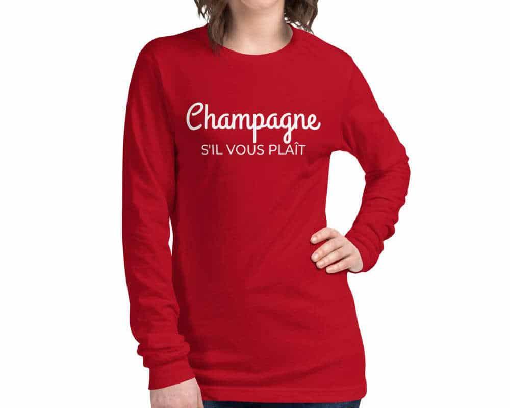 Champagne long-sleeve tshirt