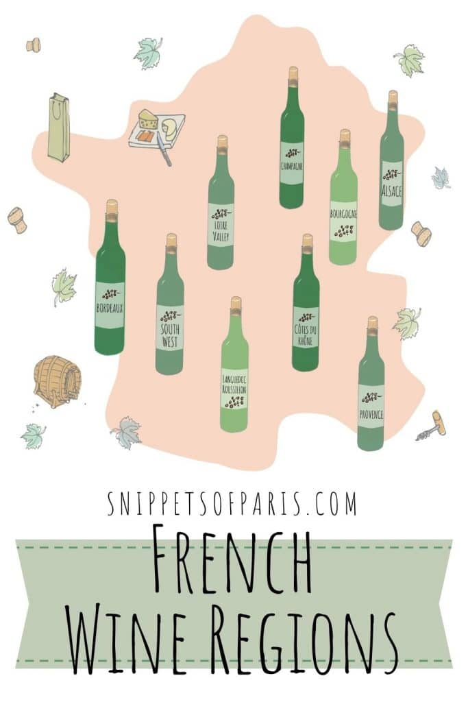 French wine regions - pin for pinterest
