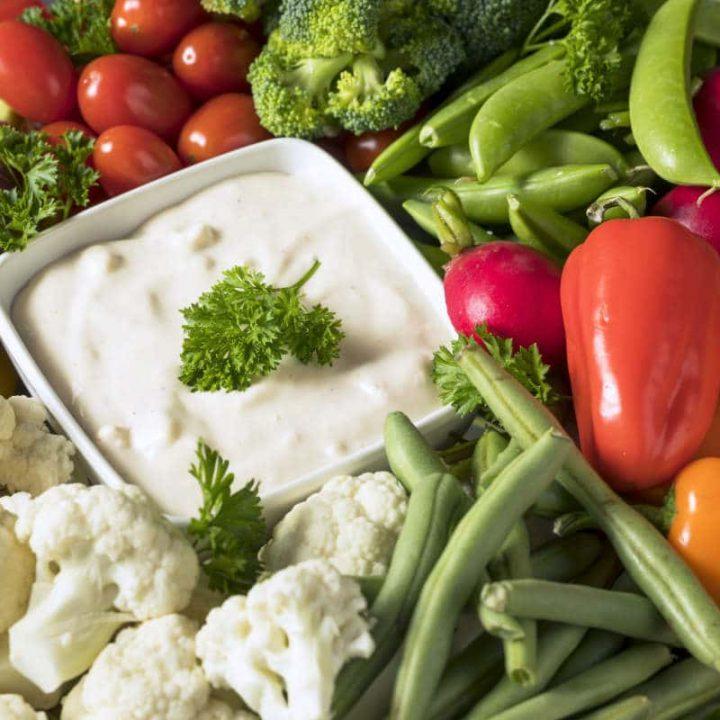 french Vegetable Crudites Platter