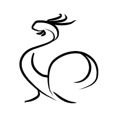 coq illustration tattoo