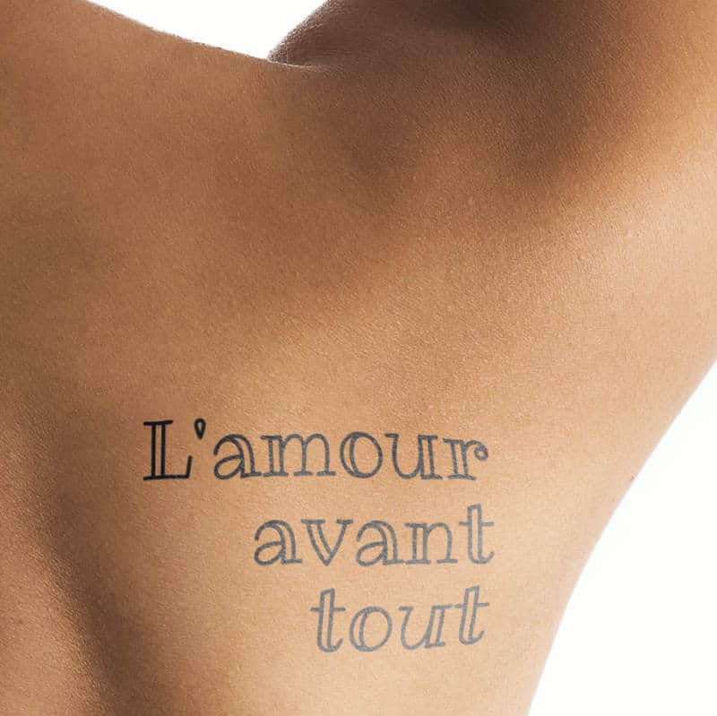 L'amour avant tout - tattoo in french