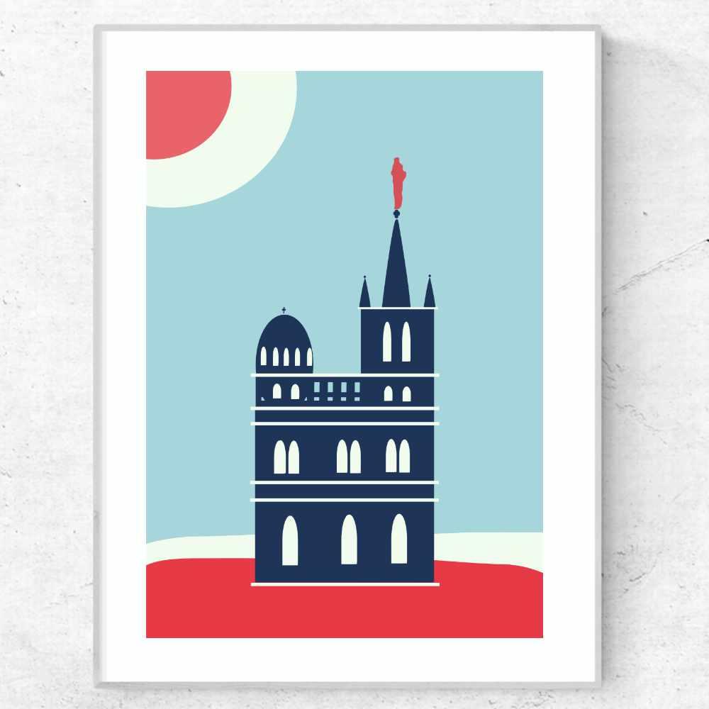 Notre Dame de la Garde Marseille, France Art poster