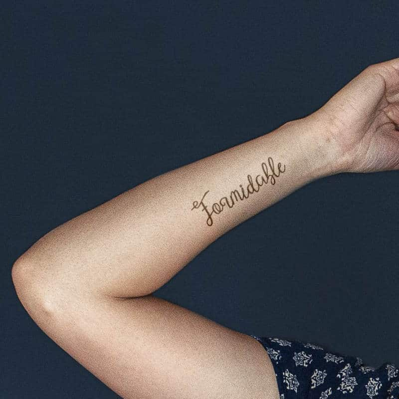 Formidable - French tattoo on arm
