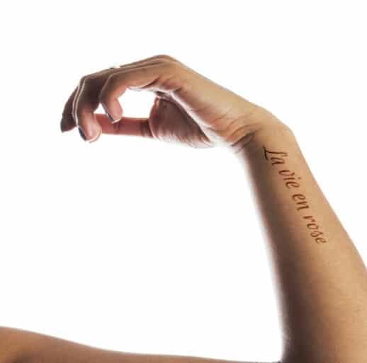 la vie en rose tattoo