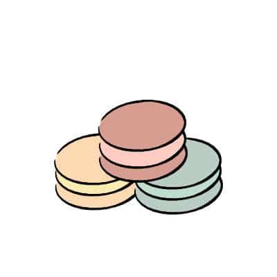 macarons illustration for tattoo