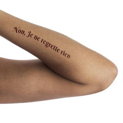 Non, Je ne regrette rien - French tattoo