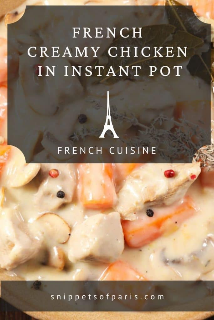 Creamy chicken in instant pot - pin for pinterest