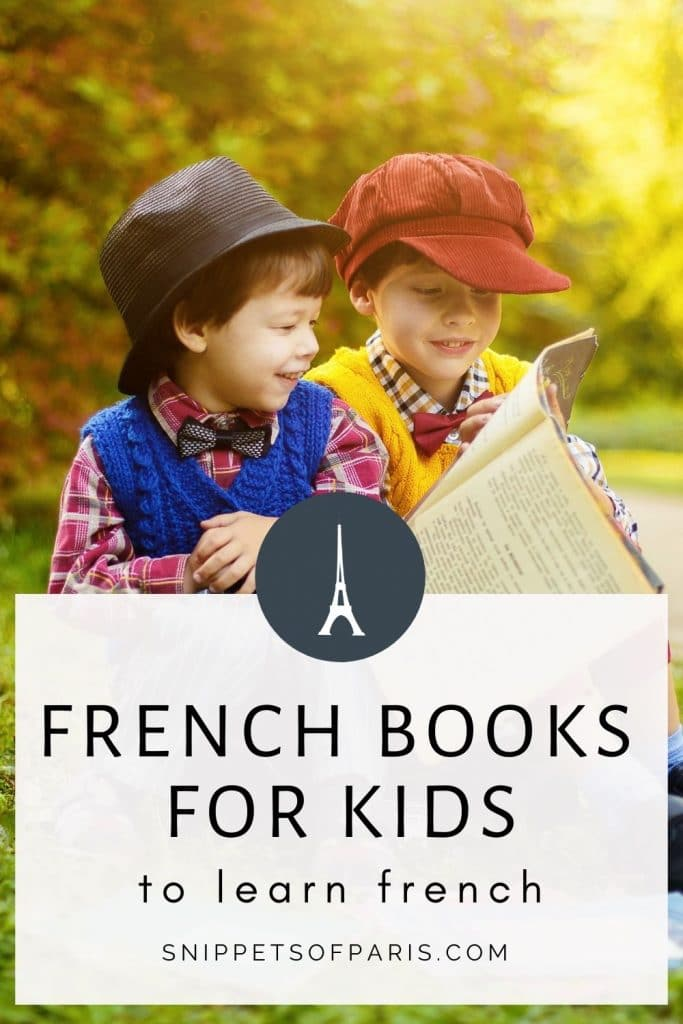 French books for kids to learn french - pin for pinterest