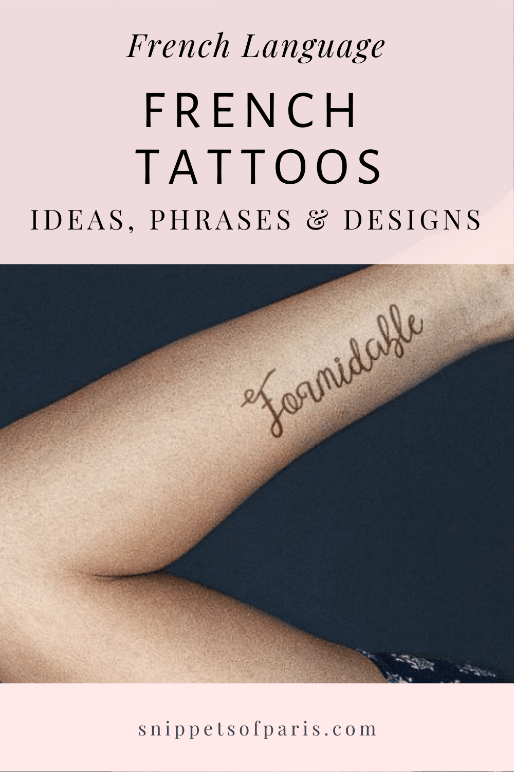 French Tattoos: 62 Ideas, Words, and Sayings