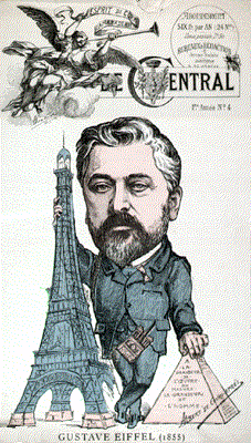 Caricature of Gustave Eiffel