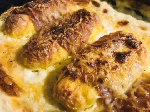 quenelles with cream sauce