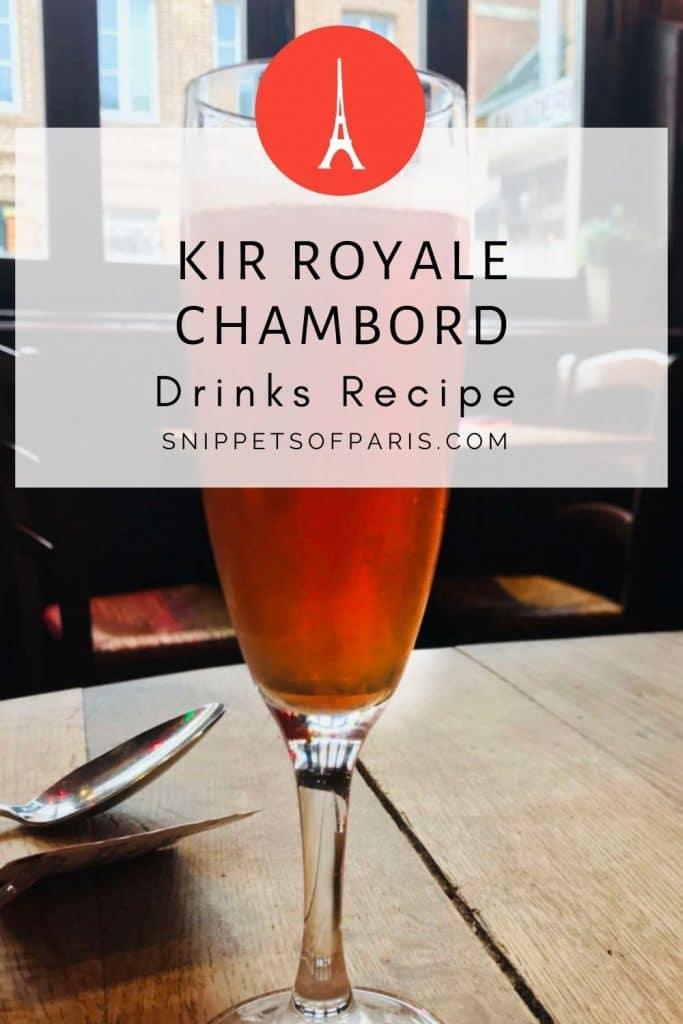 Kir Royale Chambord (Apéritif Recipe) - pin to pinterest