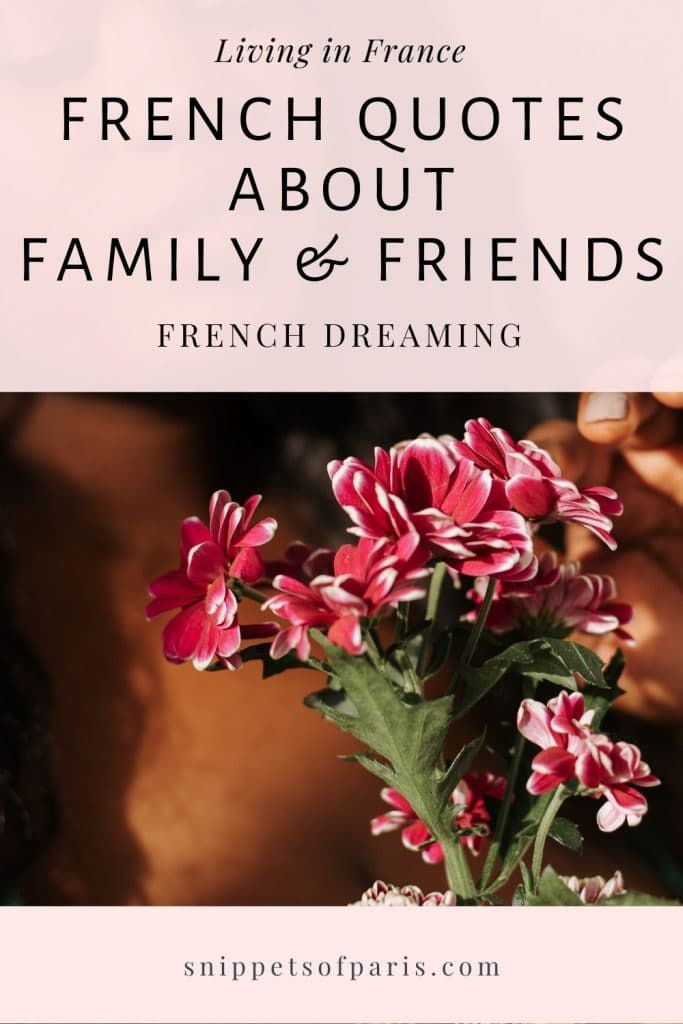 French quotes about friendship and family - pin to pinterest