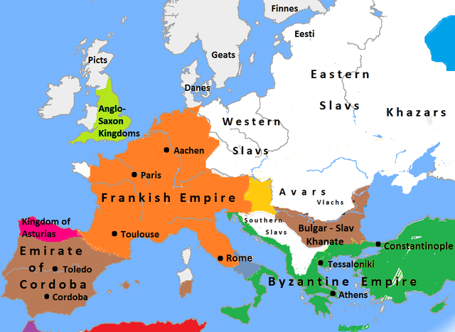 Frankish Empire under King Charlemagne