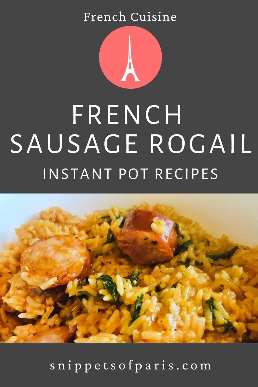 Rogail Saucisse in Instant Pot (Recipe)