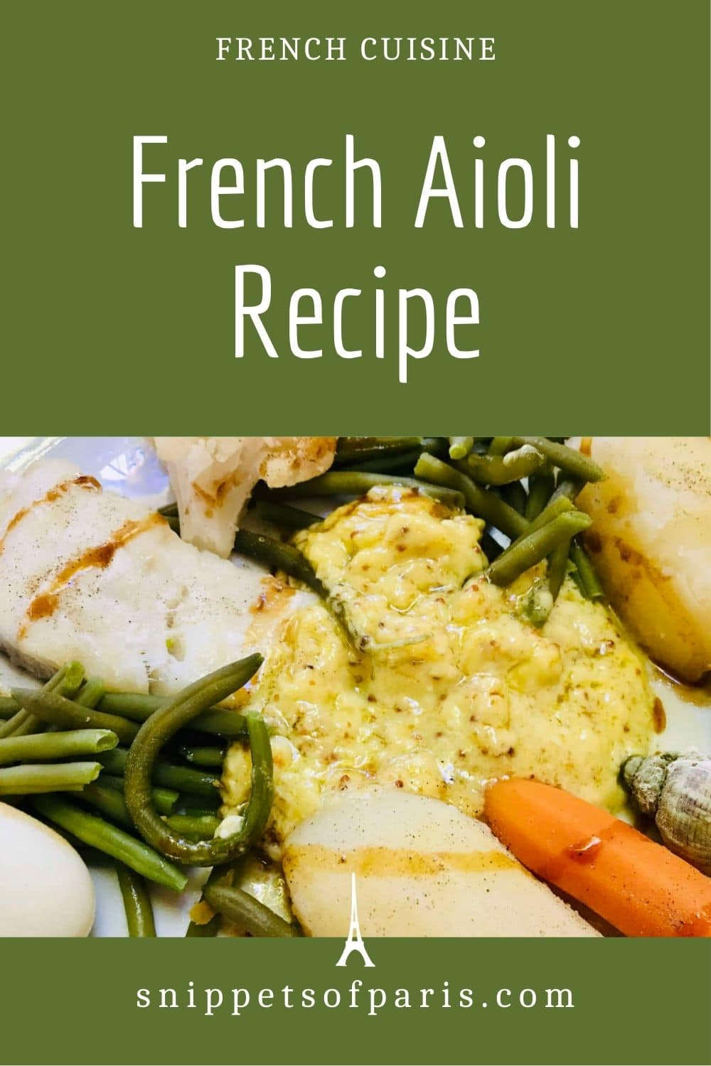 Easy Provençale Aioli recipe from the South of France