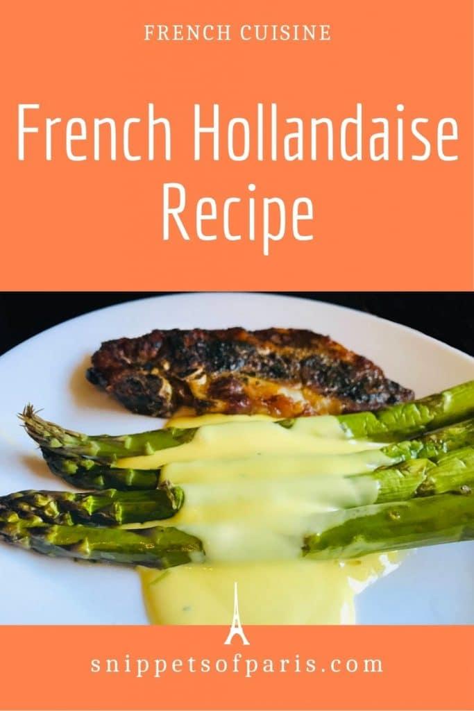 hollandaise sauce recipe pin for pinterest