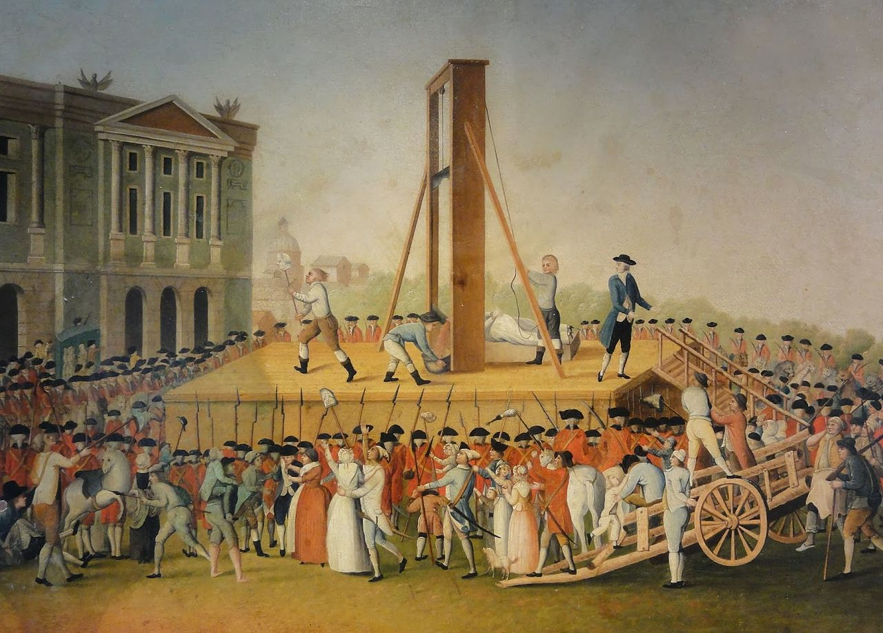 French Revolution - Execution of Marie Antoinette after the Storming of the Bastille, during the Reign of Terror