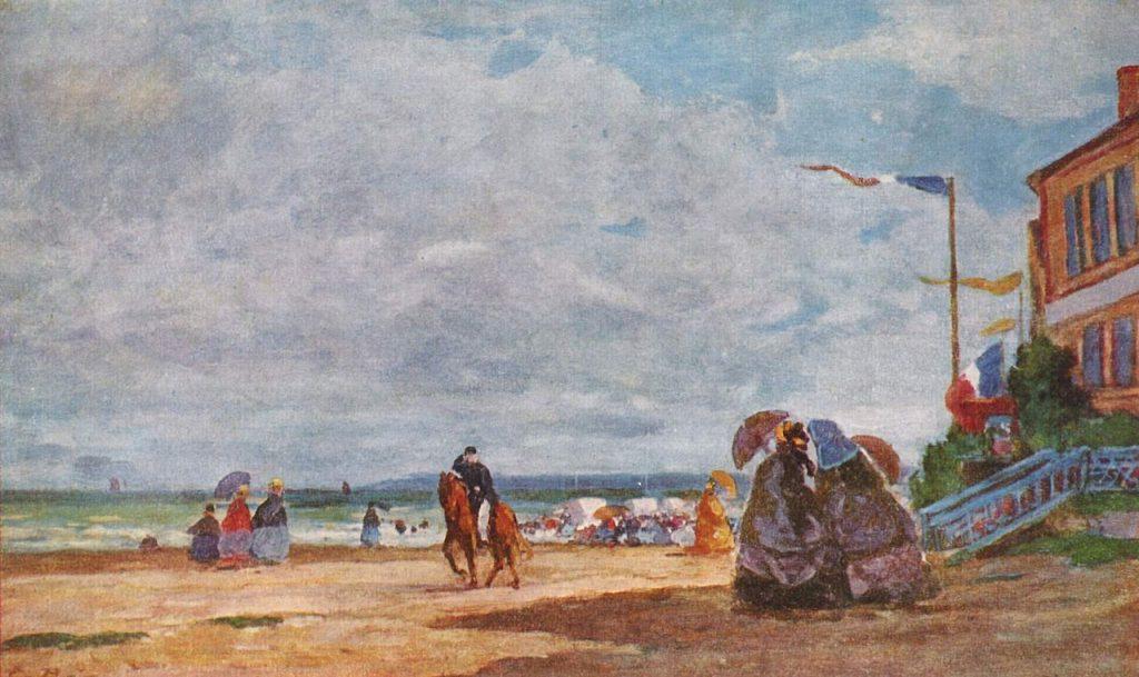 La Plache à Trouville (1863) by Eugene Boudin