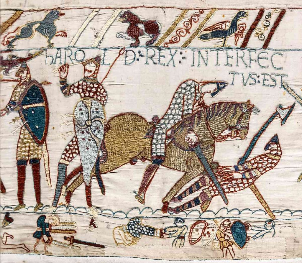 Bayeux Tapestry - Scene 57 : The death of Harold