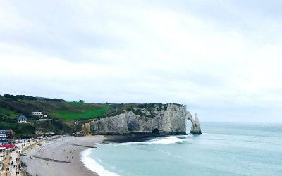 Visiting the cliffs of Étretat in Normandy