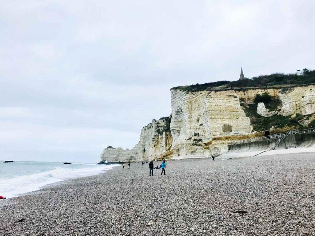 beaches of etretat