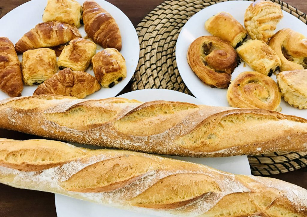 French baguettes, croissants, chocolatines, and more