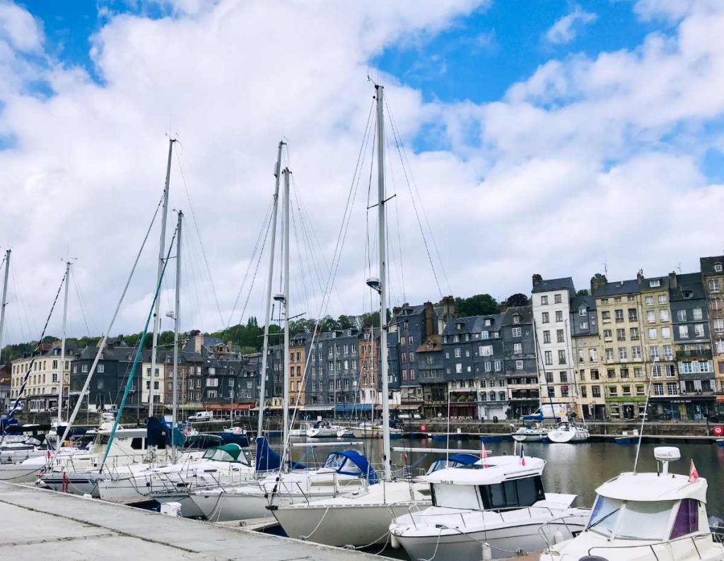 sailboats in deauville normandy