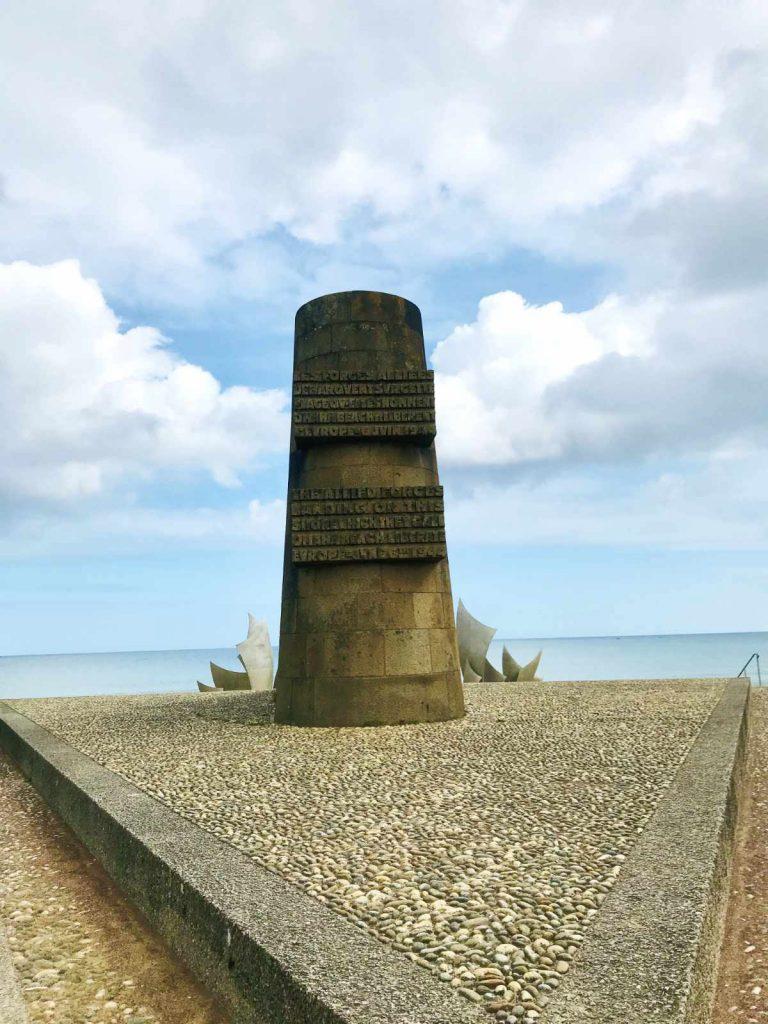 Monument on Omaha beach