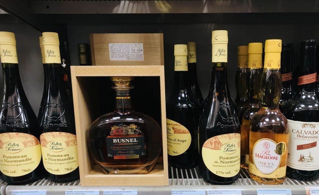 Pommeau de normandie on store shelf in France