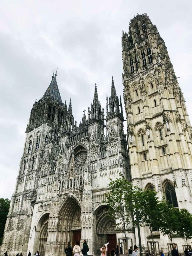 Rouen Cathedral constructed by William the Conqueror, where Rollo is buried.