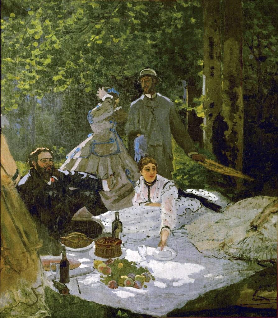 Monet's Déjeuner sur l'herbe (1865)