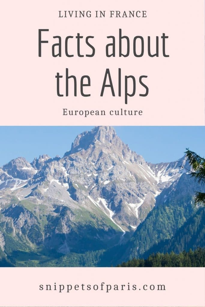 Facts about Alps - pin for pinterest