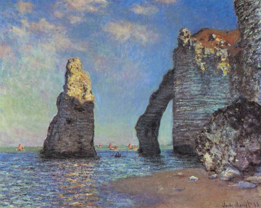 Les Falaises à Étretat by Claude Monet