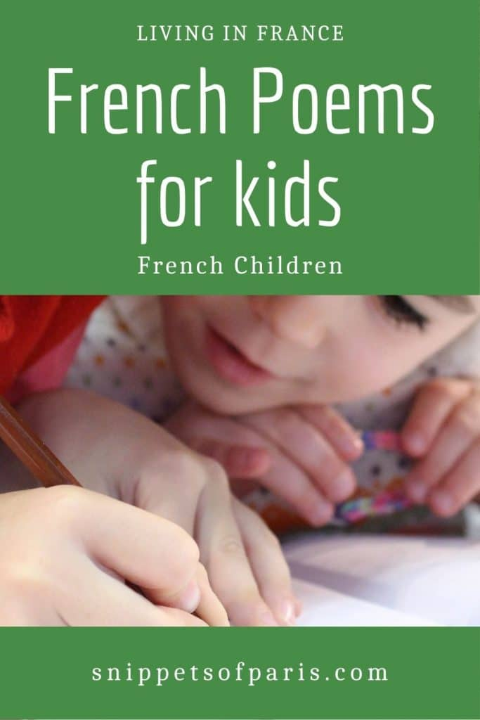 French poems for kids - pin for pinterest