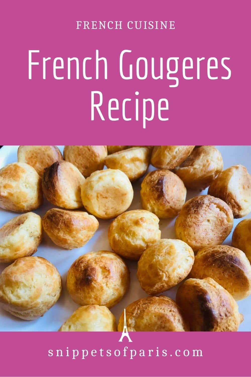 French gougères with cheese (Appetizer Recipe)