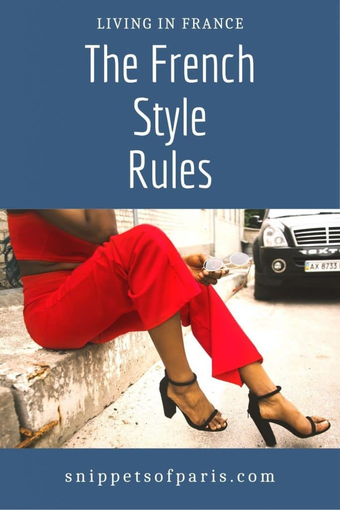 French style rules - pin for pinterest