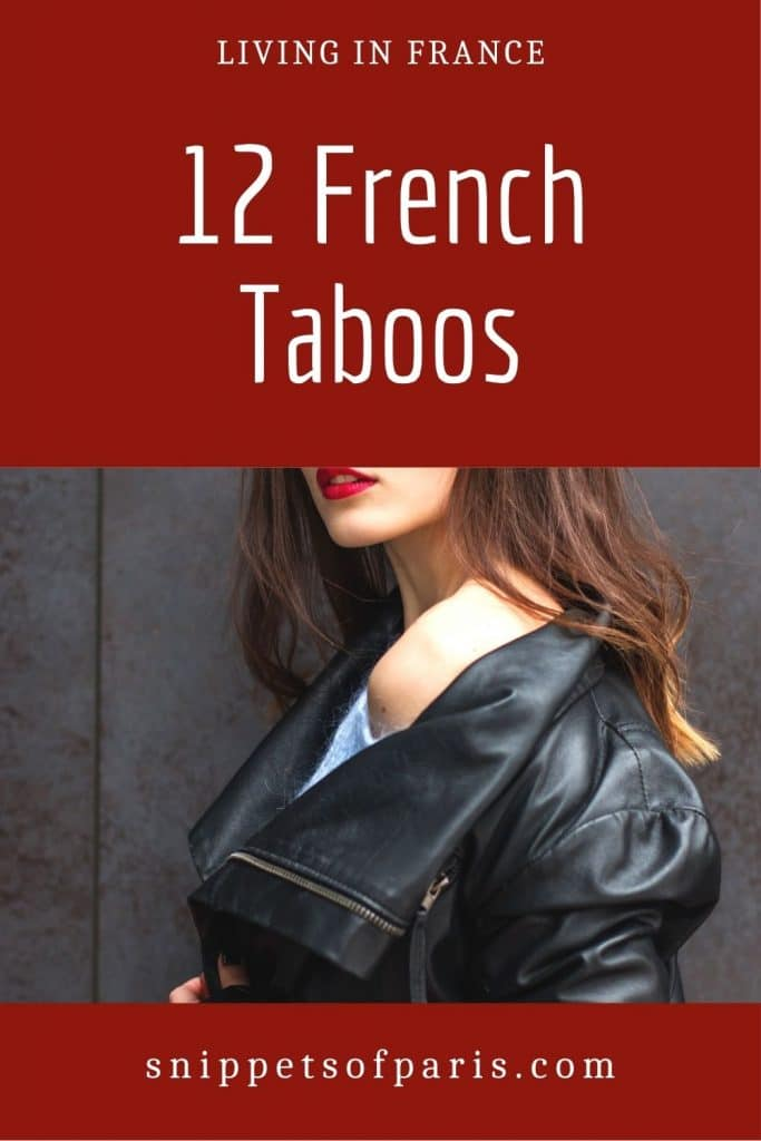French taboos - pin for pinterest