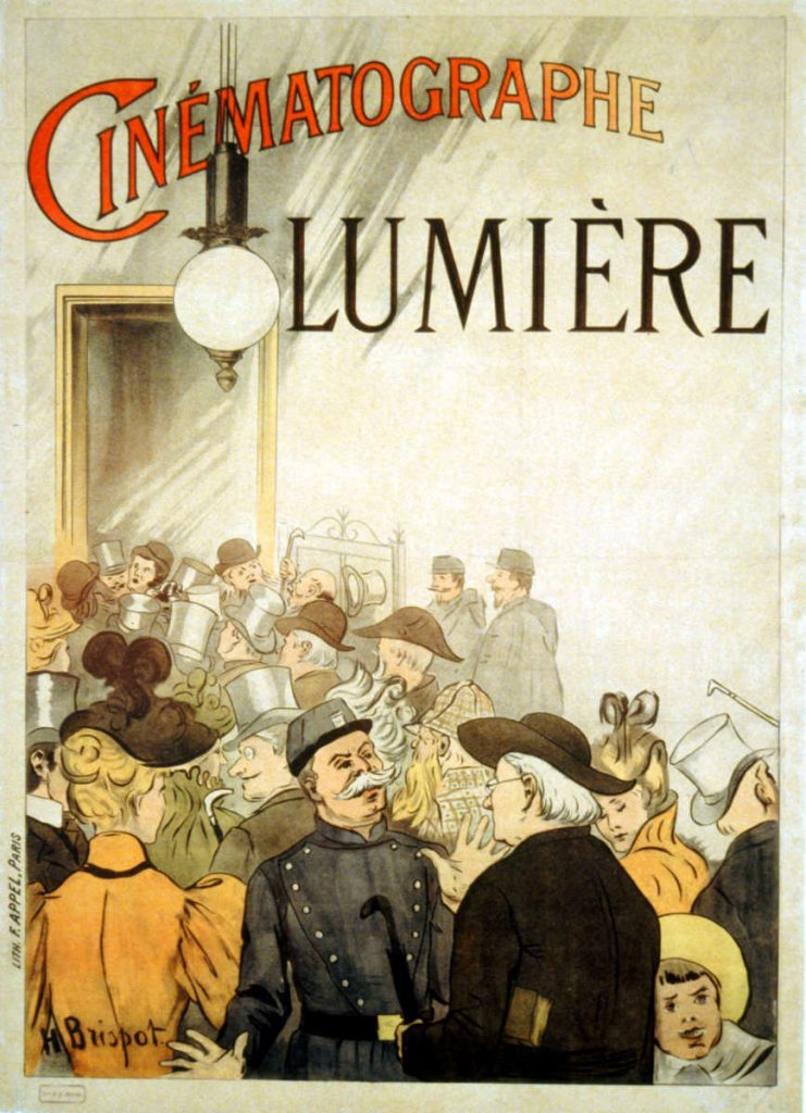 Ad for Cinematography Lumière in 1895