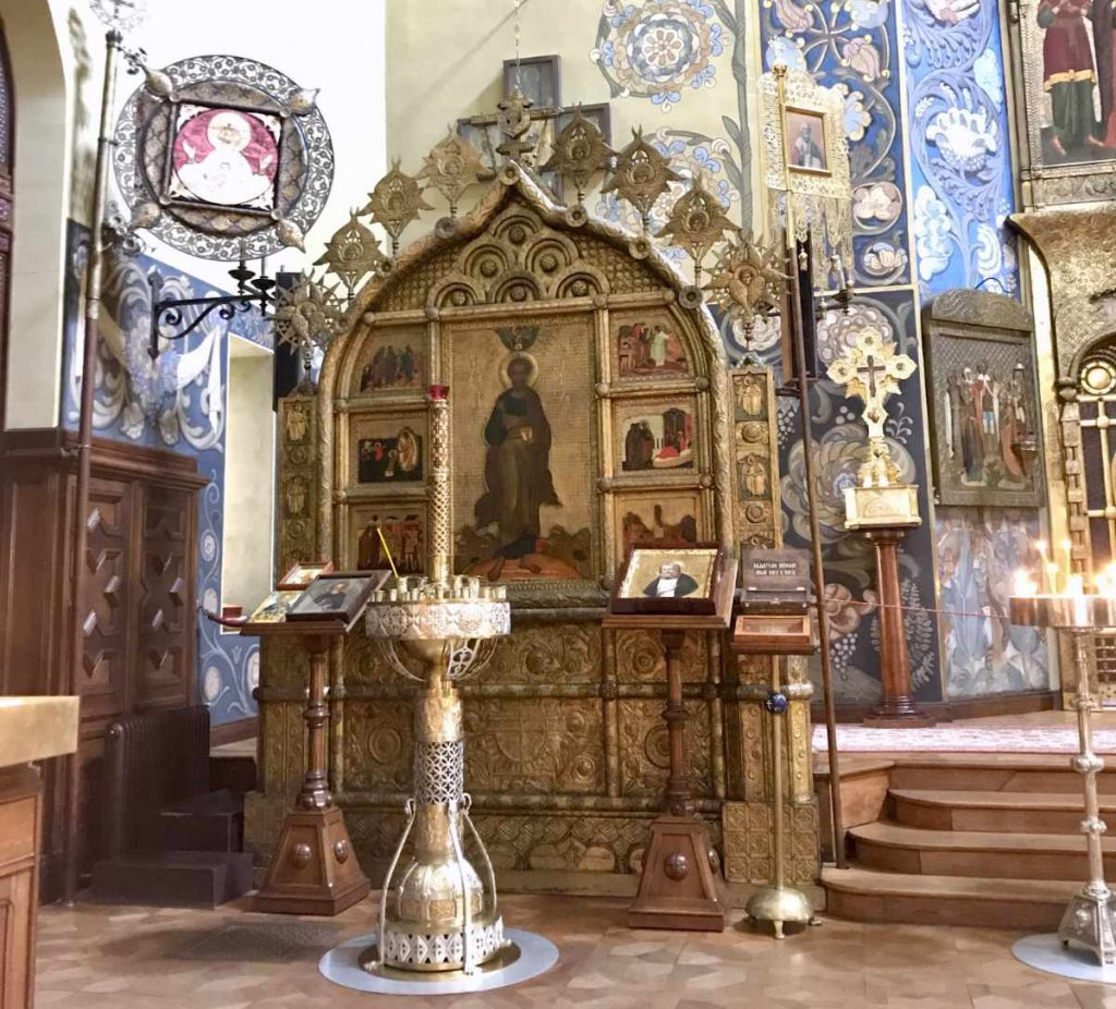 Inside the Russian Orthodox Church in Nice