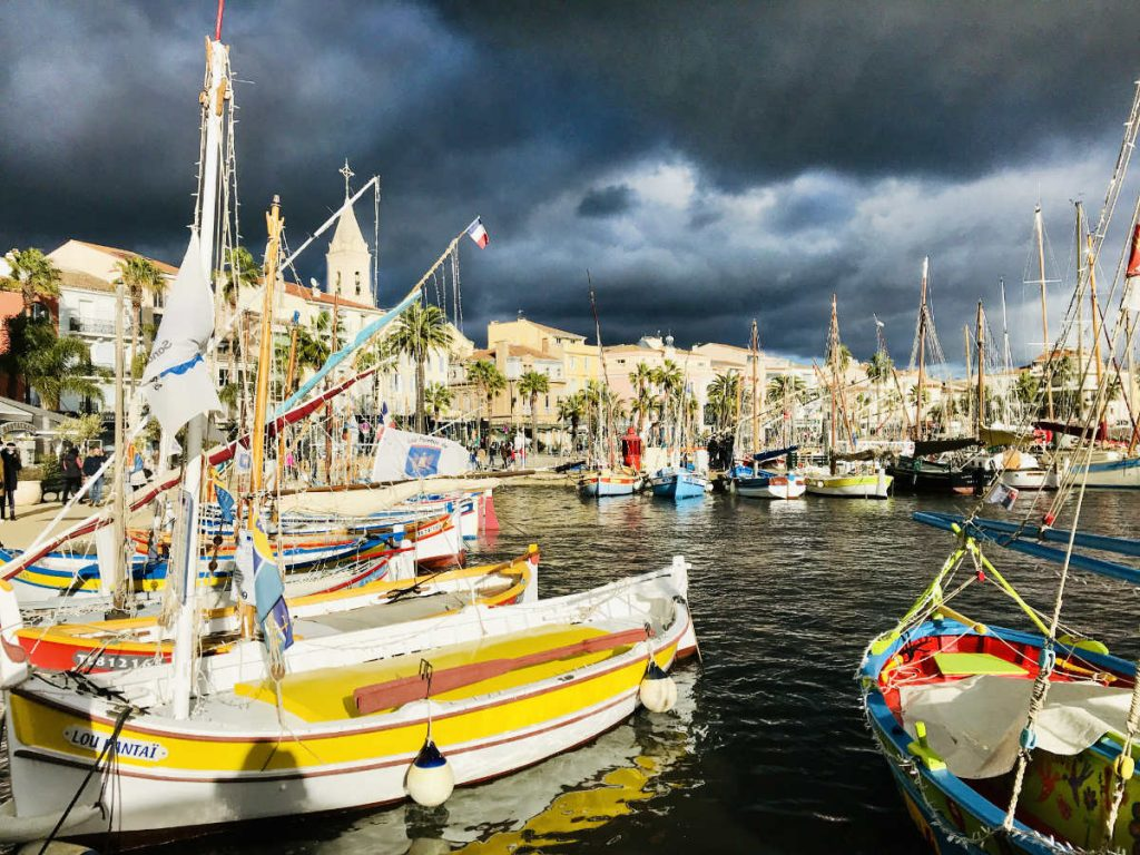 Sanary sur mer with a storm approaching