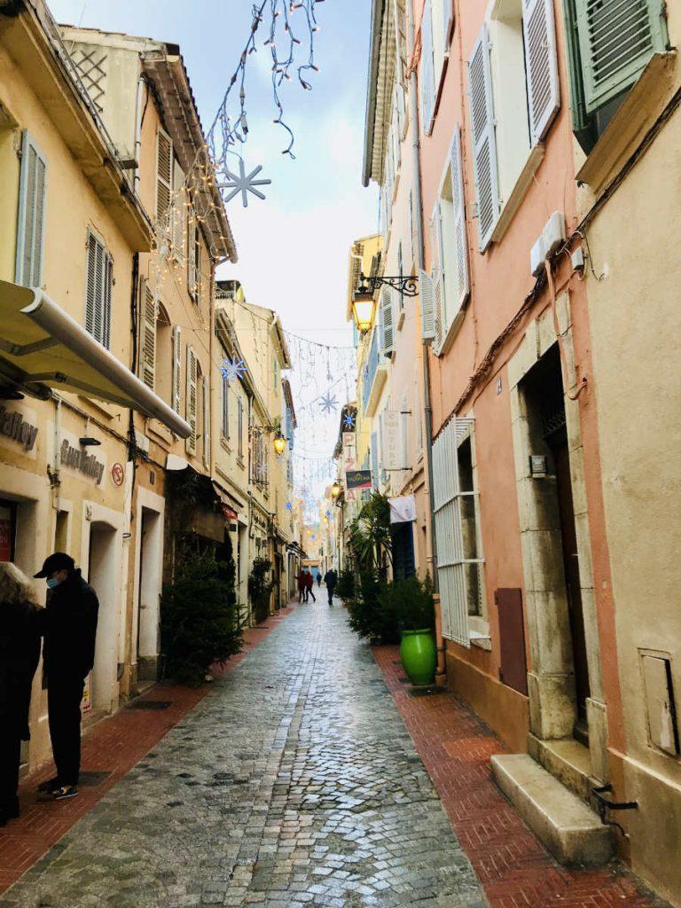 small pedestrian street in sanary-sur-mer