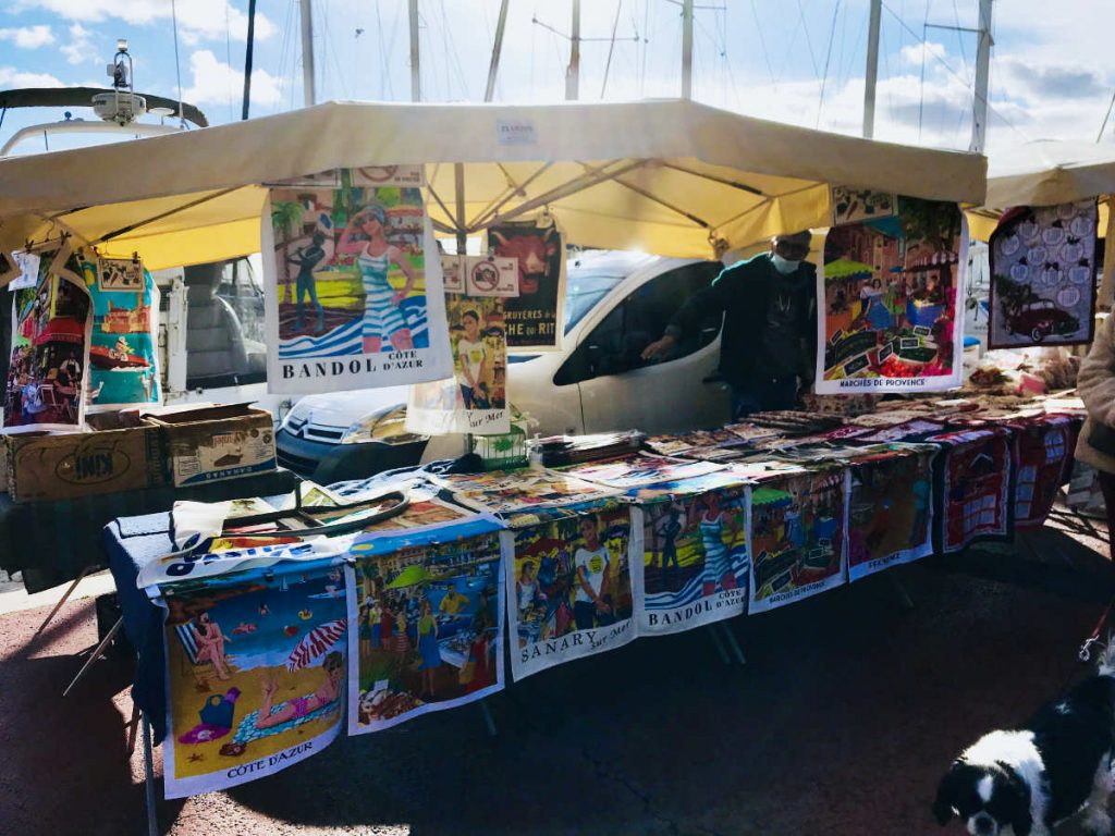 Bandol posters for sale at daily markets