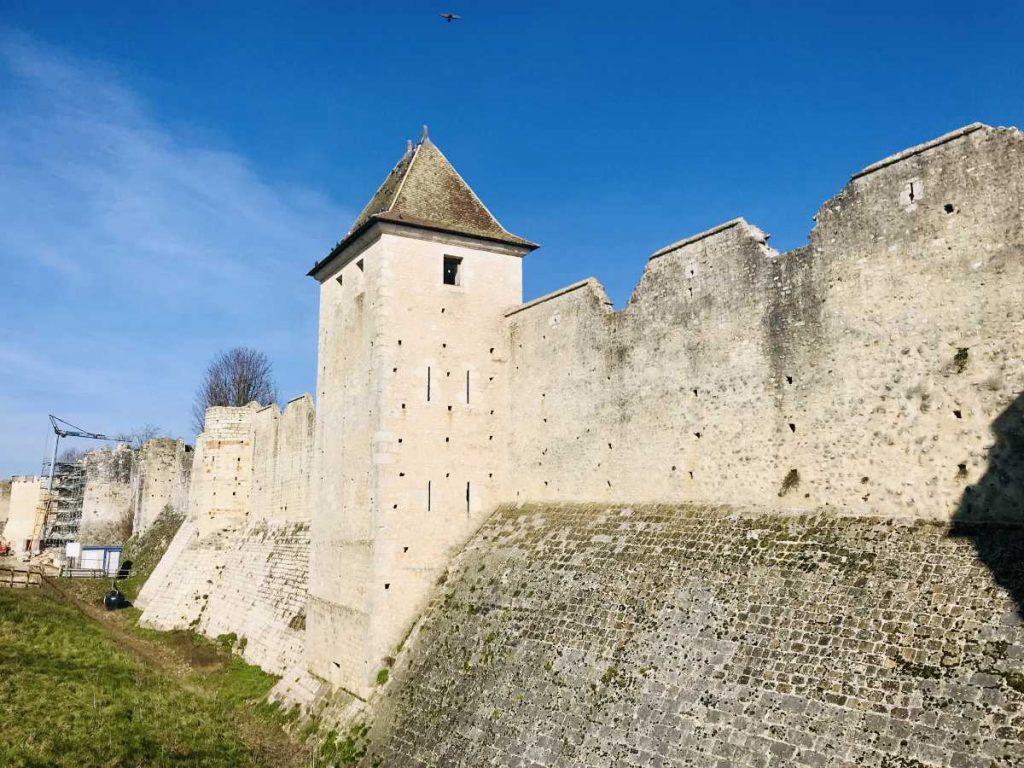 Rampart walls in Provins