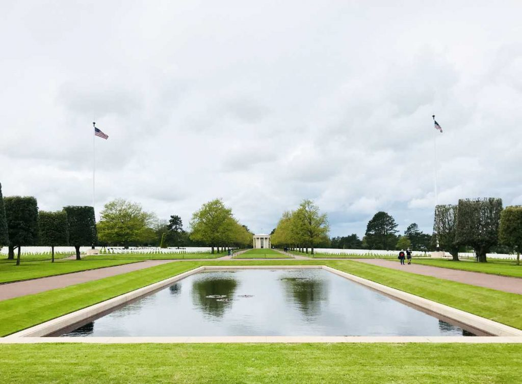 American Cemetery temple in Normandy