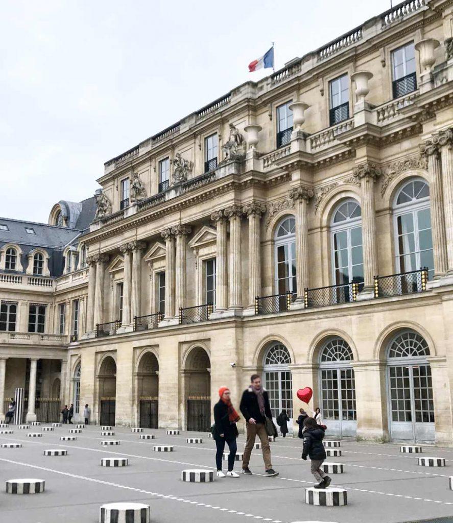 Tourists in Palais Royale in Paris