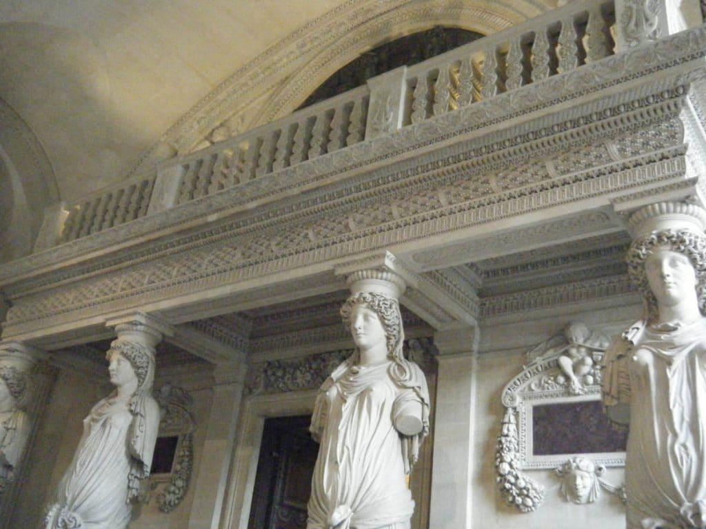 Les Caryatids by Jean Goujon in the Louvre