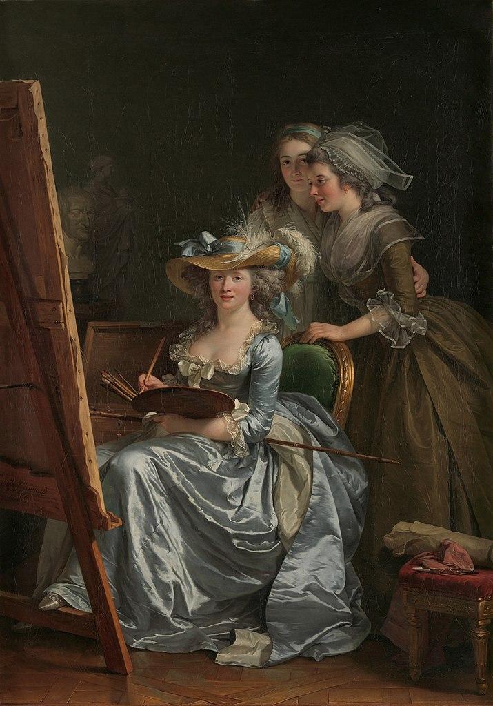Self-Portrait with Two Pupils by Adélaïde Labille-Guiard