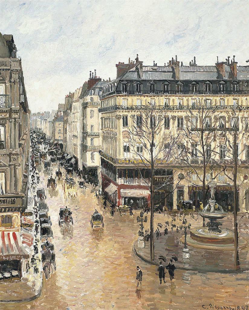 Rue Sainte Honoré in Paris by Camille Pissarro